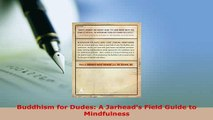 Download  Buddhism for Dudes A Jarheads Field Guide to Mindfulness  Read Online