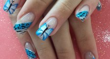 Spring Butterflies Nails Tutorial - Monarch Butterfly Nail Art Design - Popular items for butterfly nail art