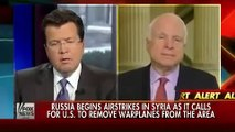 John McCain wants to arm Syrian Rebels to shoot down Russian planes