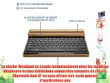 Clavier sans fil Bluetooth en bambou Archos 70 / 70b / 80 / 97 HD / 97b / 101 Titanium Cooper