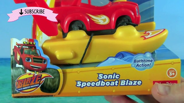 Blaze And The Monster Machines Sonic Speedboat Blaze Pool Party Bath Toys Water Toys! Bath