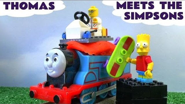 Thomas Train Meets The Simpsons Lego Minifigures Play Doh Blind Bag Opening Bart Homer Simpson