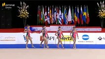 Group Finals Belarus 6 Clubs 2 Hoops Rhythmic Gymnastics World Cup 2016 Lisbon