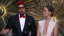 Sacha Baron Cohen brings back Ali G to support 'Idis Elbow' and Will Smith in 2016 Oscars skit