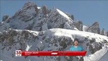 Terrible chute du skieur Stefan Jöchl projeté contre des rochers pendant une descente risquée