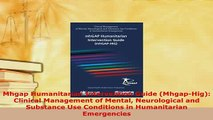 Download  Mhgap Humanitarian Intervention Guide MhgapHig Clinical Management of Mental Read Online