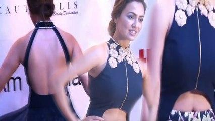 Sana Khan Hot In Backless Dress