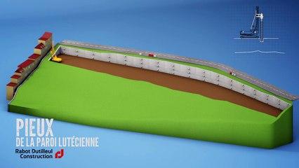 Les différentes phases du chantier des Terrasses de la Falaise à Boulogne-sur-Mer