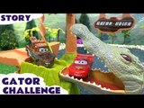 Cars Race Gator Challenge Hot Wheels Batman Spider-man Angry Birds Cars 2 Thomas and Friends Toys