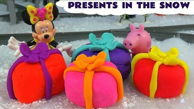 Peppa Pig Play Doh Shopkins Princess Anna Surprise Presents Toys Thomas & Friends Minnie Mouse Kids