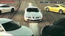 Racha entre Ferrari, Lamborghini, Maserati , Mercedes e Audi
