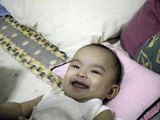 Angelina Dy - Having a great laugh on her 5th month birthday
