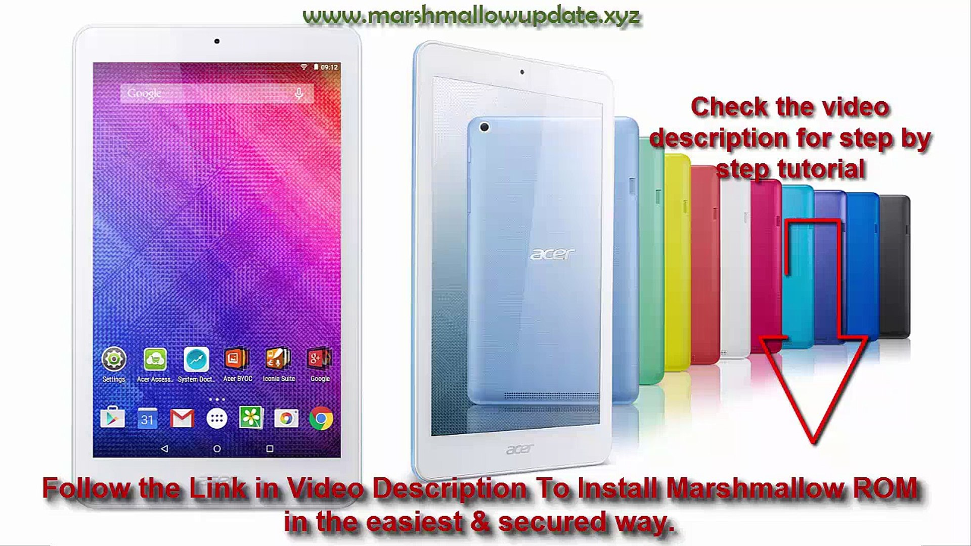Acer Iconia One 8 B1-820 Android marshmallow update