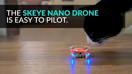 Throw this tiny drone into the air