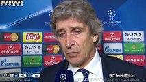 PSG 2-2 Manchester City - Manuel Pellegrini Post Match Interview