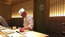 Three Michelin Starred Sushi Saito, Master Chef Takashi Saito's Chu-Toro (Medium Fatty Tuna)