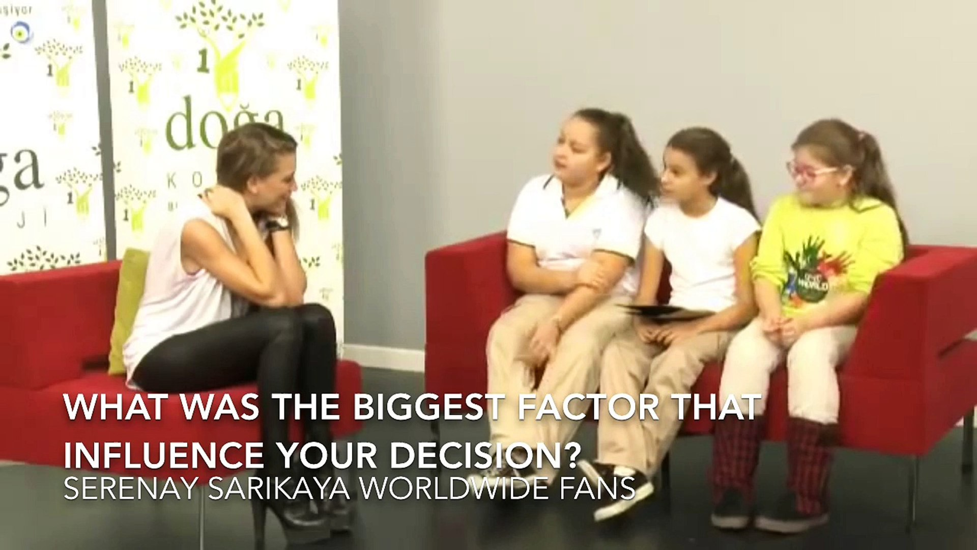 Serenay Sarikaya interview by students of Doga prep school