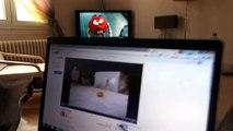 Chatte Bengal VS souris sur un écran d'ordinateur
