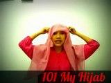Tutorial Hijab Paris Cara memakai Jilbab Segi Empat