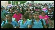 Cientos de mujeres marcharon en demanda al cese de los feminicidios en Moca