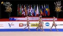 Group Finals Russia 6 Clubs 2 Hoops Rhythmic Gymnastics World Cup 2016 Lisbon