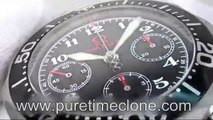 Swiss Replica Watches Replica Omega Seamaster Chrono Diver SS Black Olympic Edition on Bracelet A775