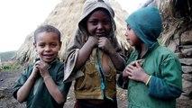 Cute Kids in Geech Village, Simien National Park, Ethiopia