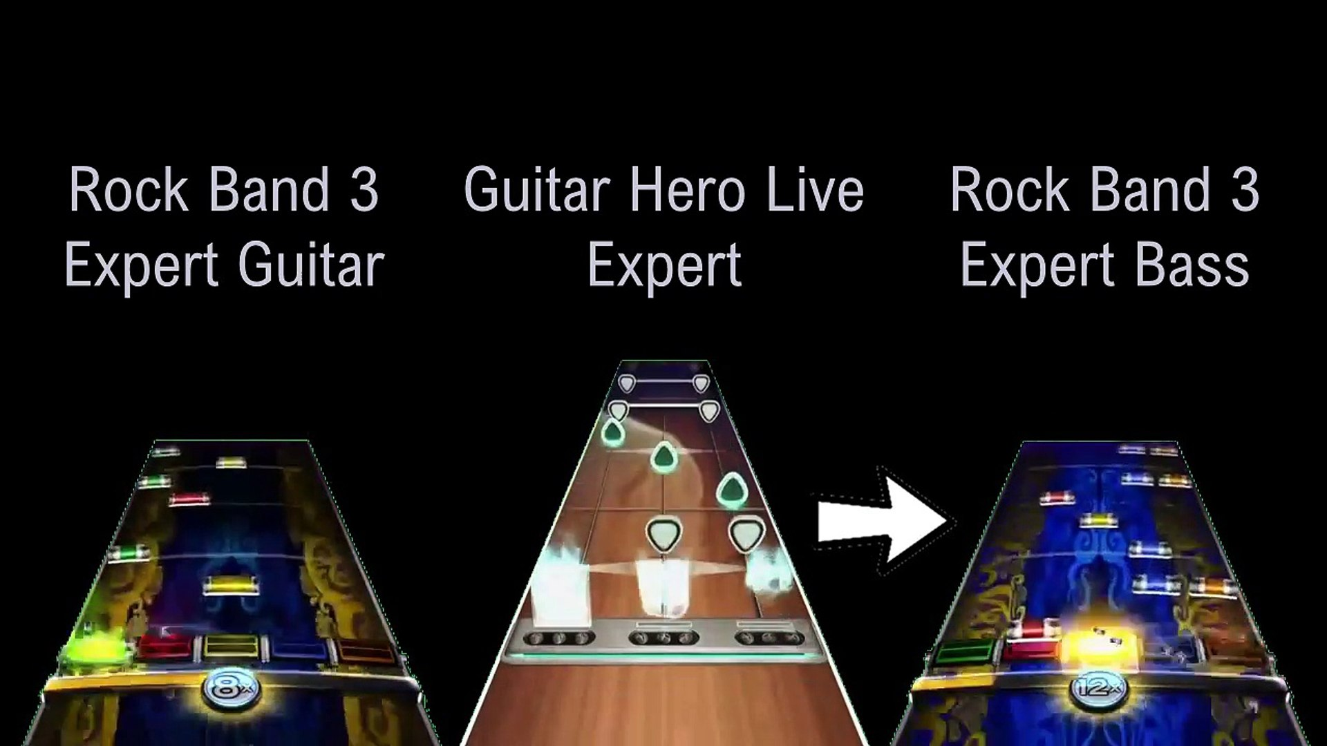 Primus Jerry Was A Race Car Driver Rock Band 3 V Guitar Hero Live Expert Chart Comparison Video Dailymotion