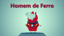 Família Peppa Pig OS VINGADORES Avengers Thor Hulk Capitão América Homem de Ferro Iron Man Captain