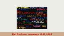 PDF  Mel Bochner Language 19662006 PDF Online