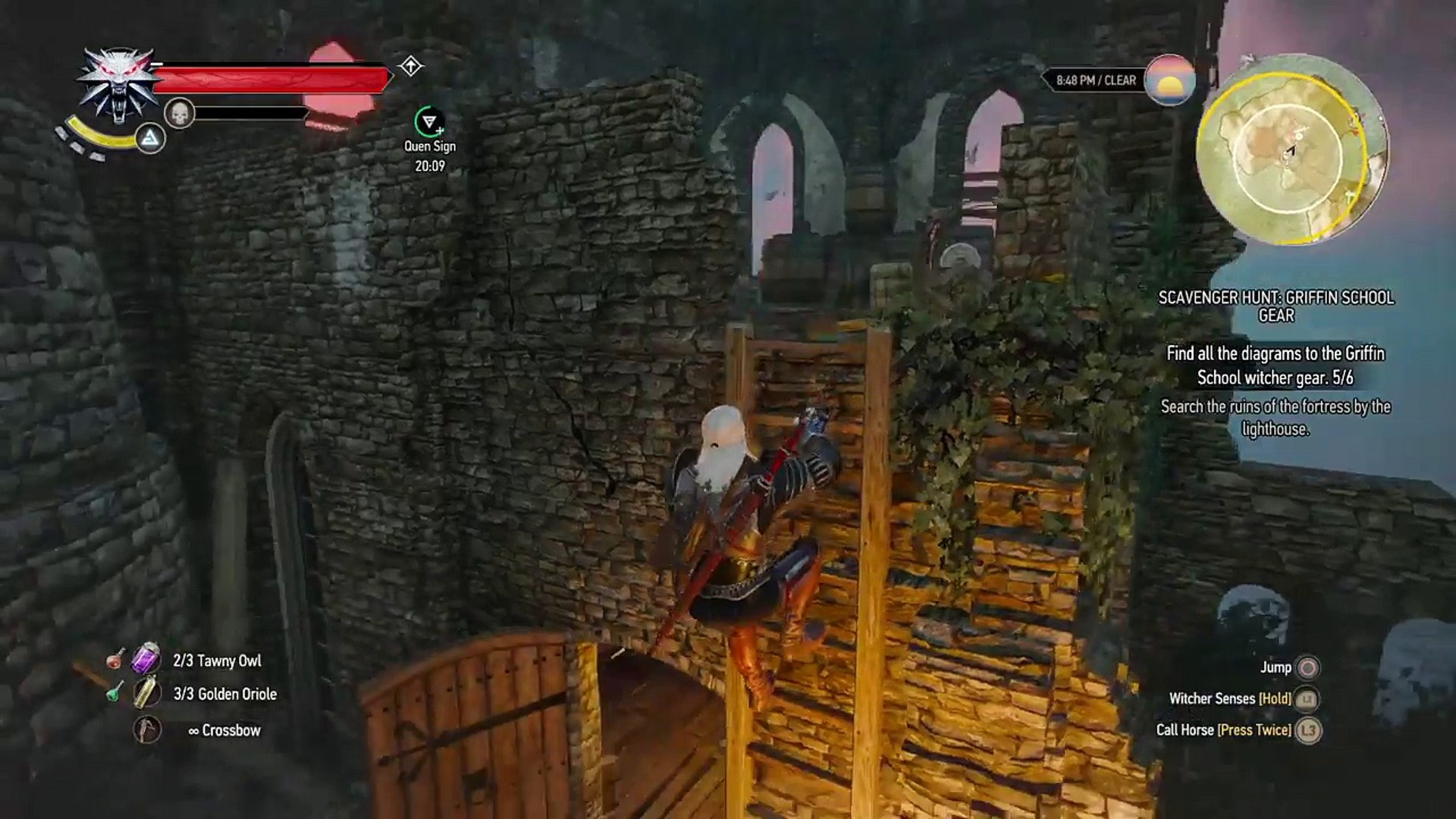 The Witcher 3 Search The Ruins Of The Fortress By The Lighthouse Chest Video Dailymotion