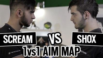 SHOX vs SCREAM 1vs1 AIM MAP CSGO [ENGLISH SUB]