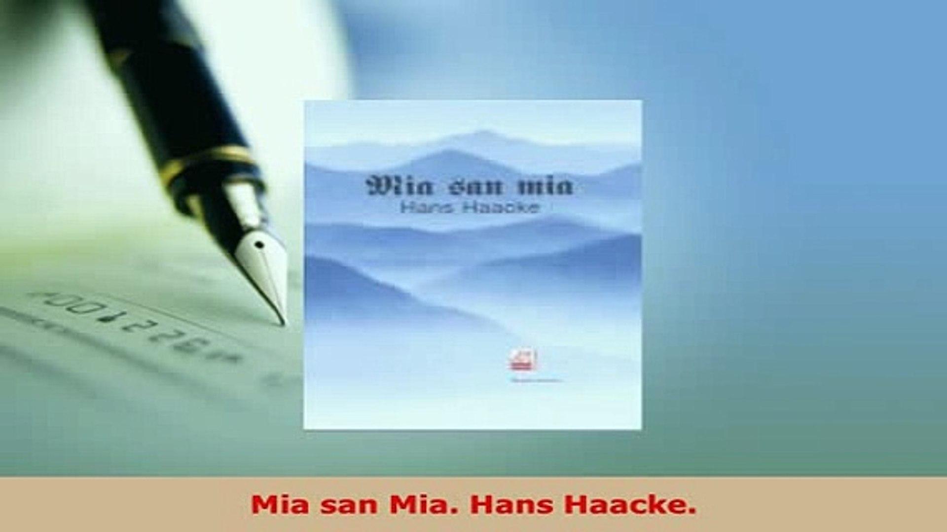 Download  Mia san Mia Hans Haacke Free Books