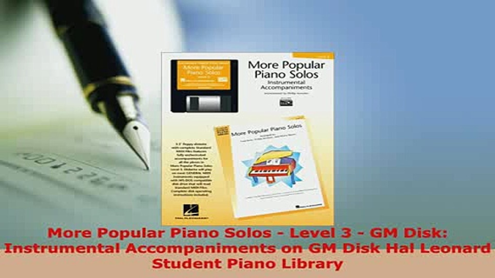 PDF  More Popular Piano Solos  Level 3  GM Disk Instrumental Accompaniments on GM Disk Hal  EBook
