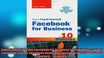FREE DOWNLOAD  Sams Teach Yourself Facebook for Business in 10 Minutes Covers Facebook Places Facebook  DOWNLOAD ONLINE