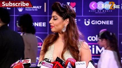 Akanksha Puri Hot In V-Neck Dress @ Red Carpet|  Gima awards 2016