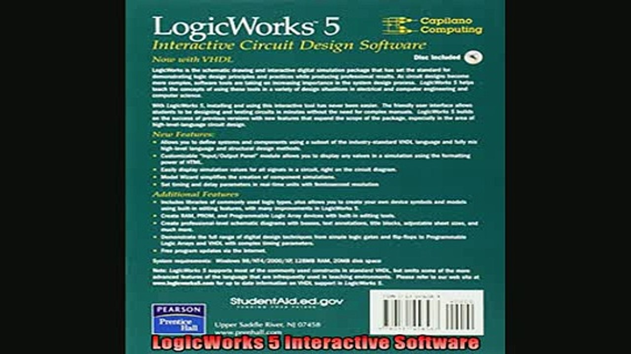 Free Pdf Logicworks 5 Interactive Software Book Online Video Dailymotion