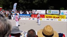 JEU PROVENCAL-MARSEILLE PARC BORELY-Quart-Demie-Bosso-Kerfah-Finale Domenge-Serano-Sorrentino(Le Rove)/Matraglia-Stievenart-Chamberon(Nimois)-boules-juillet 2015