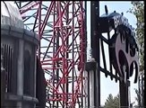 Batman & Robin The Chiller Roller Coaster Off-Ride POV Six Flags Great Adventure