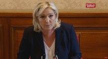 """M. Le Pen """"Nous avons une fois de plus été la cible d'une très grave campagne de diffamation"""""""