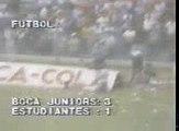 Gol de Hrabina a Estudiantes (Boca 3-Estudiantes 1 02-03-86)