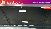 2 Drawer Metal Lateral File Cabinets
