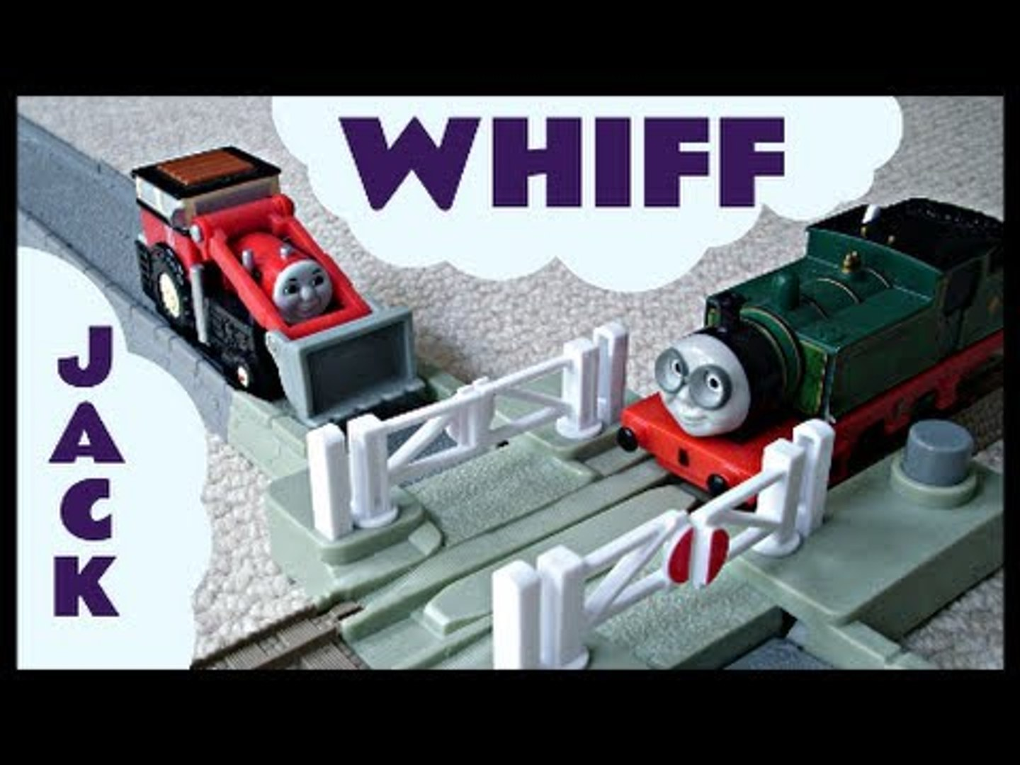 Trackmaster Thomas & Friends Crossing with Whiff & Jack Kids Toy Train Set Thomas The Tank E