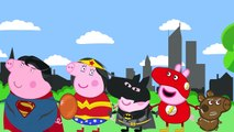 Peppa Pig Batman v Superman Finger Family (Nursery Rhymes Lyrics)