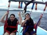 Nins and Melai...Parasailing in Boracay.MPG