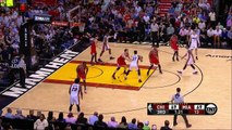 Doug McDermott Tackles Hassan Whiteside, Gets T d Up   Bulls vs Heat   April 7, 2016   NBA