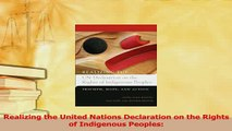 Download  Realizing the United Nations Declaration on the Rights of Indigenous Peoples Ebook Free