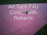Art tech F4U Corsair with Retracts