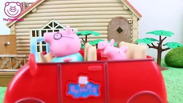 Pig George da Familia Peppa Pig com Medo da Rede Cai Novelinha ToyToysBrasil Peppa Pig em Português