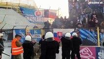 Slovan Bratislava Ultras Hooligans Vs. Security - Fight